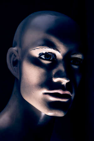 Portrait of an old male mannequin 免版税图像
