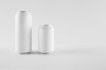 replace: Blank Mock-up Cans on white background, ready to replace your design.