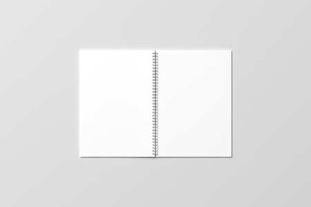 binding: Wire binding notebook mock up