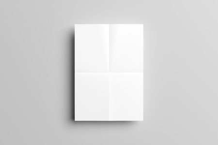 a3: Folded A3 poster Mock up