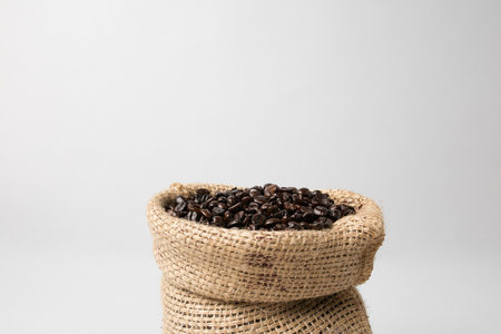 Coffee sack with coffee beans