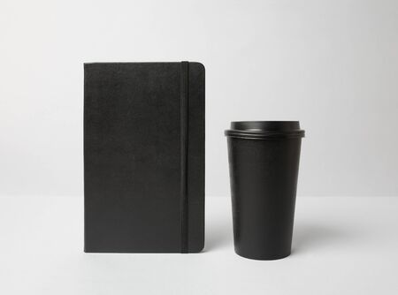 Black paper cup and molekine