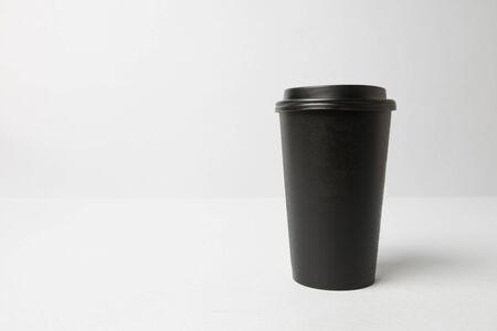 Black paper cup mockup