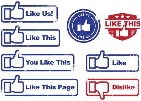 worn: Social Media Stamps