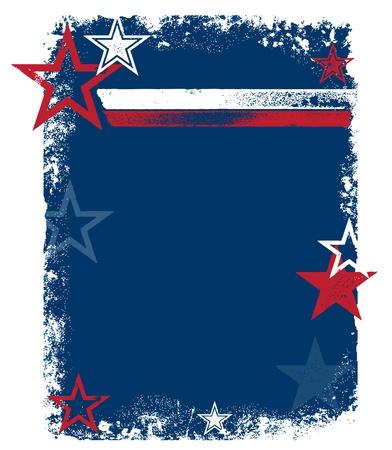 애국적인 Grunge 배경 일러스트