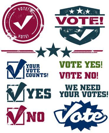 urne: Francobolli di voto Vettoriali