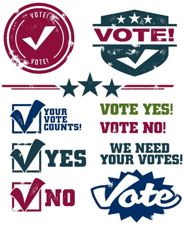 Voting Stamps Vector