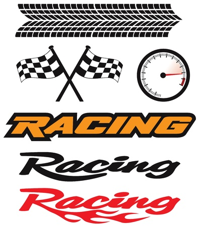Racing Icons Stock Vector - 9783377