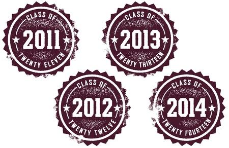 Class of 2011 2012 2013 2014 Stock Vector - 9783432