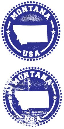 montana: Montana USA Rubber Stamp Style Imprint