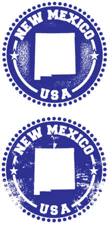 New Mexico USA Stamp Design Vector