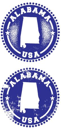 Alabama USA Stamp Design Stock Vector - 9912345