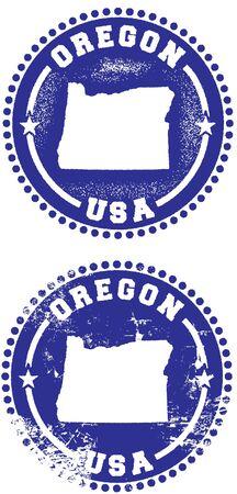 state of oregon: Oregon USA Stamp Design