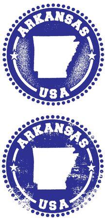 Arkansas USA Stamp Design Vector