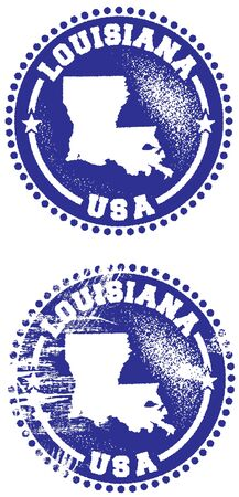 louisiana state: Louisiana USA Stamp Design