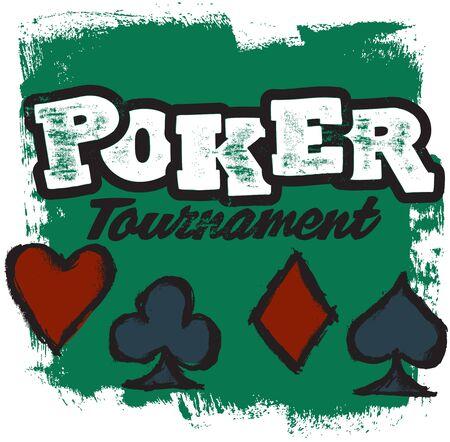 Poker Tournament Graphic Çizim