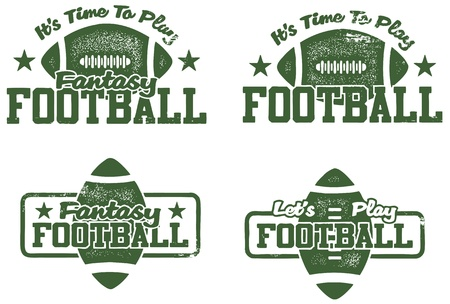 American Football Stamps Vector
