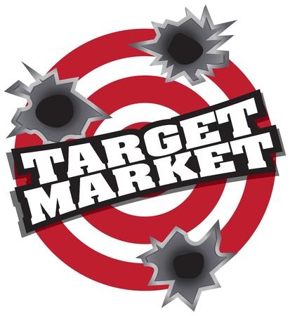 Target Market Stock Vector - 10104442