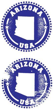 Arizona State Stamp Vector