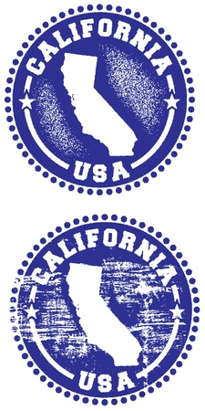 grunge stamp: California State Stamp Illustration