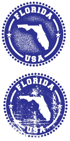 Florida State Stamp Stock Vector - 10104453