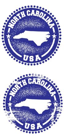 North Carolina State Stamp Ilustrace