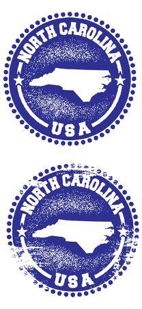 north carolina: North Carolina State Stamp Illustration
