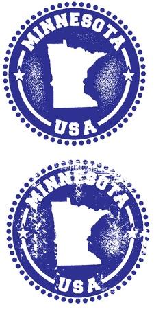 Minnesota State Stamp Vector
