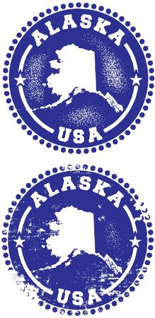 Alaska USA Stamp Design Stock Vector - 10191048