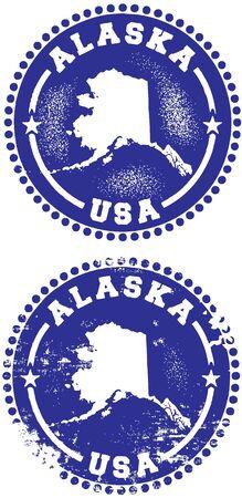 Alaska USA Stamp Design Stock Vector - 10191048