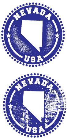 네바다 미국 우표 디자인