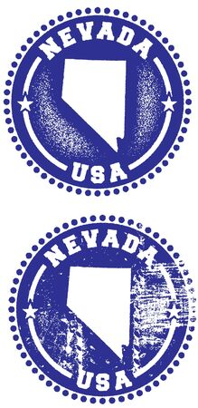 Nevada USA Stamp Design Vector
