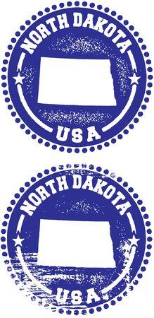 North Dakota Verenigde Staten Zegel Ontwerp Stock Illustratie