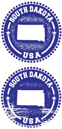 South Dakota USA Stamp Design Stock Vector - 10191047