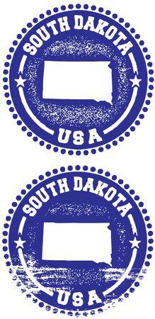 south dakota: South Dakota USA timbro Design Vettoriali