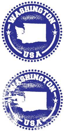seattle: Washington USA Stamp Design