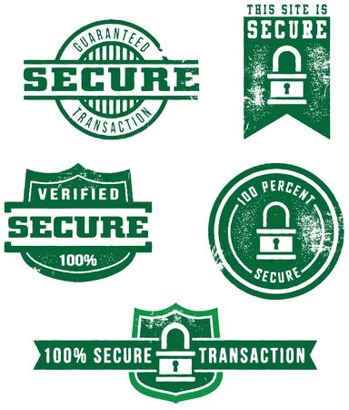 Web Security Stamps Stock Vector - 10191029