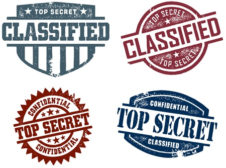 Top Secret Classified Stamps Vector