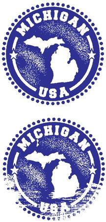 미국 미시간 주 스탬프 스톡 콘텐츠 - 10320673