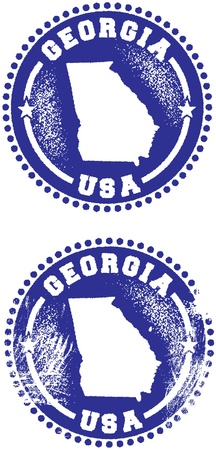 Georgia USA State Stamp Vector