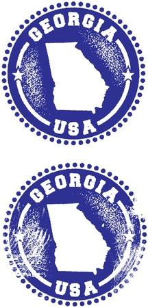 georgia: Georgia USA State Stamp