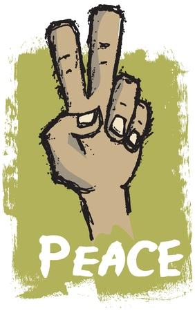 simbolo della pace: Segno di pace mano