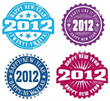 Happy New Year 2012 Stock Vector - 10361183