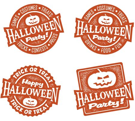 Halloween Party Stamps Stock Vector - 10559638