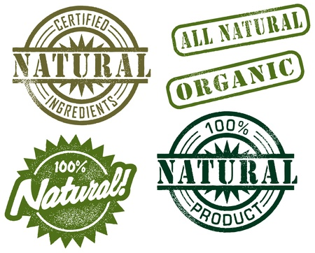 Natural Rubber Stamps Vettoriali