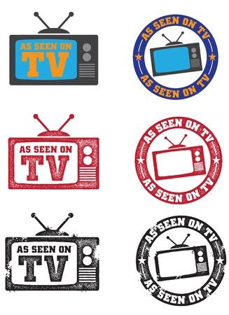 テレビ画像に見られるように  イラスト・ベクター素材