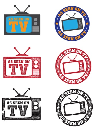 As Seen on TV Graphics Vector