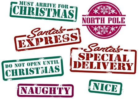 Santas Timbres de Noël Banque d'images - 11189275