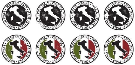 Vintage Italië Postzegels Stockfoto - 11376427