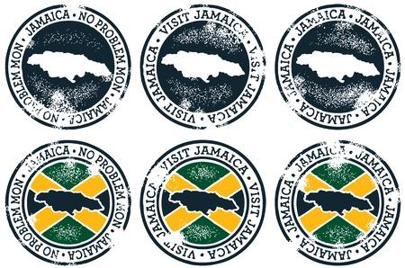 Vintage Estilo Jamaica Sellos Foto de archivo - 11376430